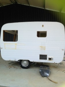 Our Little Caravan - Vintage Handmade Crafts - Craft Workshops - Narelle's Country Heart - Before